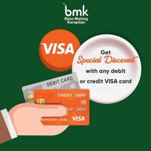Diskon dengan kartu Visa (Edisi II)