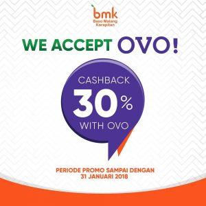 CASHBACK 30% dengan OVO