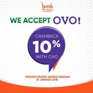 CASHBACK 10% dengan OVO